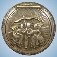 Miniature Silver Box with Figural Relief