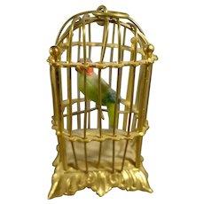 Great Ormolu Bird Cage with Bird