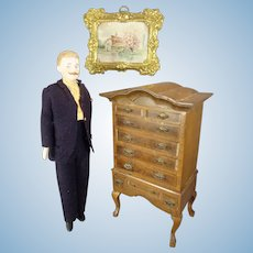 """7"""" Doll House Gentleman with Moustache"""