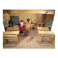 French School Ecole for French Dolls Schoolroom