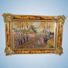 Miniature FrenchPetit Point in Ornate Frame