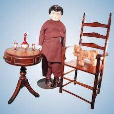 Doll Size Ladder Back Chair
