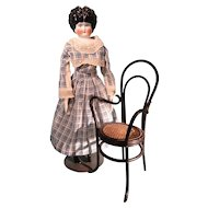 Doll Size Bent Reed Chair Antique