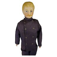 "7 1/2"" Doll House Man with Moustache in Service Costume"
