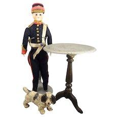 Early Cast Iron Miniature Tilt Top Table