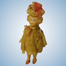 """3 1/4"""" All Bisque Doll Pin Jointed"""