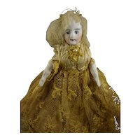 """5 1/2"""" Doll House Lady in Lace Dress"""
