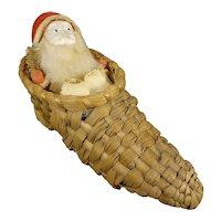 Santa in Wicker Shoe