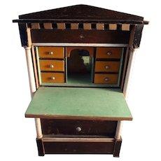 Biedermeier Secretary for Doll House or Fashion Display