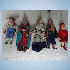 German Carved Wooden Puppets