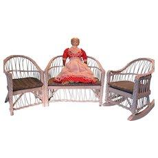 Doll Size Wicker Patio Furniture