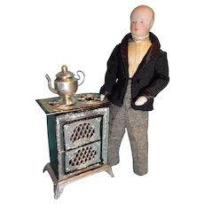 Mature Doll House Man with Muttonchops