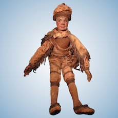 Early Carved Wooden Doll Puppet