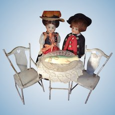Tin Bistro Set by Marklin Doll House Scale