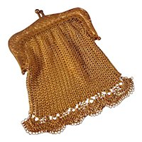 Gilt Metal Mesh Purse for Fashion