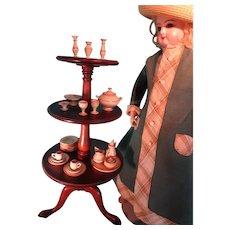 Antique Miniature Revolving Dumb Waiter