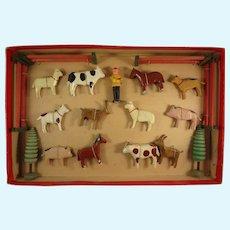 Erzgebirge Farm Animals in Original Box
