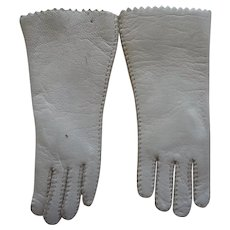 Fashion Doll's Leather Gloves in Cream
