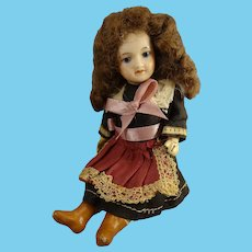 """5"""" French Bisque Doll with Swivel Head"""