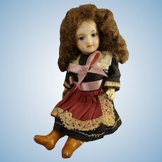 "5"" French Bisque Doll with Swivel Head"