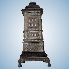 Antique Metal Parlor Stove for Doll House