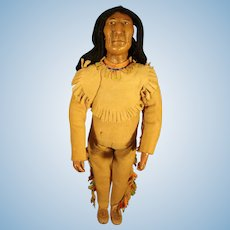 "9"" Native American Iroquois Doll"