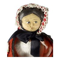 """11"""" Wood Doll with Side Glancing Eyes"""