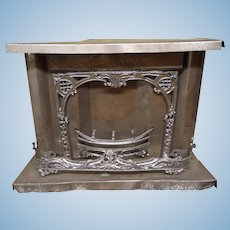 German Tin Fireplace for Doll House