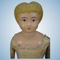 Minerva Tin Head Doll from Germany