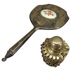 Doll's Perfume and Sterling Hand Mirror
