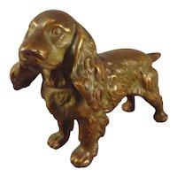 Miniature Bronze Spaniel Dog for Doll Display