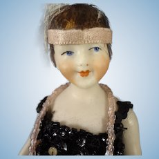 """Awesome 6"""" All Bisque Flapper Doll with Articulated Limbs"""