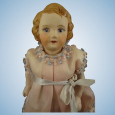 Lovely All Bisque Doll with Yellow Boots