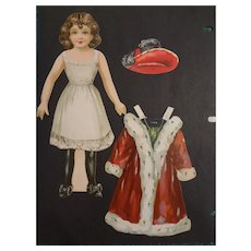 Lady Irene Antique Paper Doll by Selchow & Richter of New York
