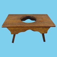 Miniature Oak Doll's Stool Bench