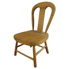 Small Wooden Doll's Chair