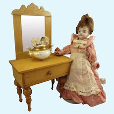 Dressing Table with Mirror for Doll House