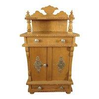 German Oak Cabinet for Doll House