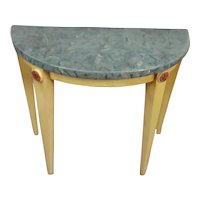 Demi-Lune Miniature Table Faux Marble for Doll House