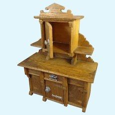 German Oak Buffet for Doll House