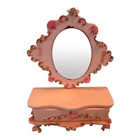 Spielwaren Hall Table with Mirror for Doll House