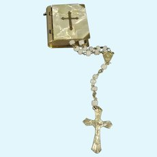 Doll's Miniature Rosary and Case