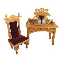 German Doll House Desk and Chair