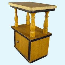 Miniature Side Cabinet with Shelf for Doll House