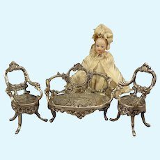 Miniature Sterling Parlor for Doll House