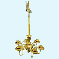 Miniature Brass Chandelier for Doll House