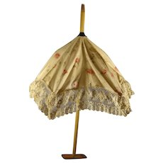 Fancy Doll's Parasol with Lace Fringe