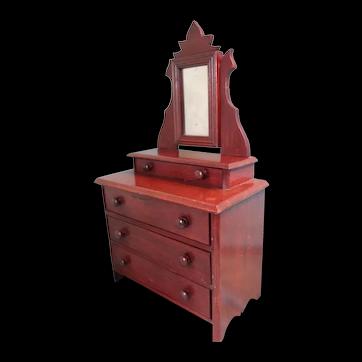 Wonderful Doll's Dresser with Mirror