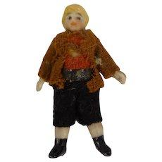 "2"" All Bisque Doll in Original Costume"