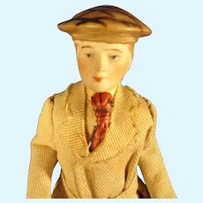 "6"" Doll House Gentleman with Sculpted Hat and Gloves"